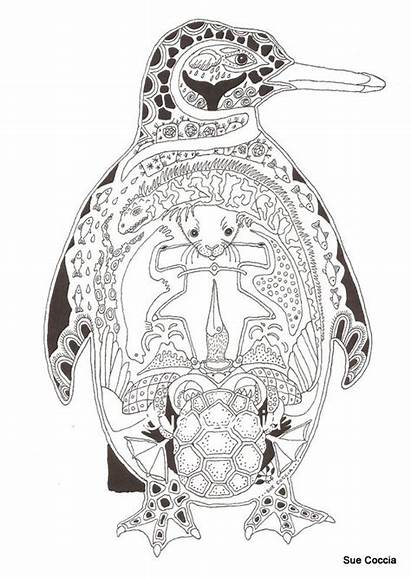 Exotic Coloring Pages Birds Adult Creatures Icolor