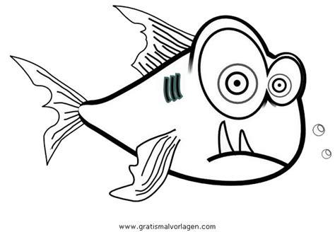 piranha  gratis malvorlage  fische tiere ausmalen