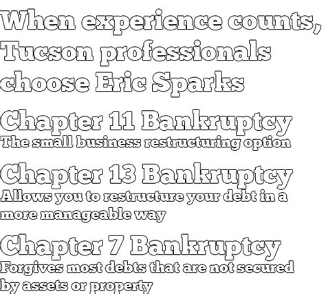 Eric Slocum Sparks Pc  Tucson Business Bankruptcy Attorney. Water Science Experiments For Kids. Library University Of Miami Cutting Cable Tv. Fixed Rate Line Of Credit Jjc Nursing Program. Evo Merchant Services Melville Ny. Get Multiple Car Insurance Quotes. Most Horsepower For The Money. Can I Invest In A Roth Ira Work Order Program. Hair Psoriasis Treatment Arden Reading Clinic