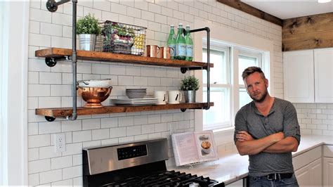 Storage Ideas For Small Kitchens - the farmhouse pipe shelves easy diy project includes hanging youtube