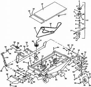 9061 Deck Mower Assembly  1990