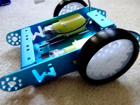 1, if it is on the black line, it keeps moving forward; MakeBlock mBot Wireless Robot Car Kit: Assembly - Part 1 ...