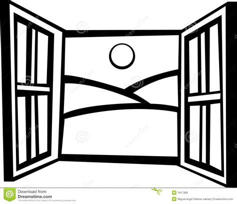 Open Window Vector Illustration Stock Vector