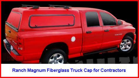 ranch truck caps  aluminum fiberglass truck caps
