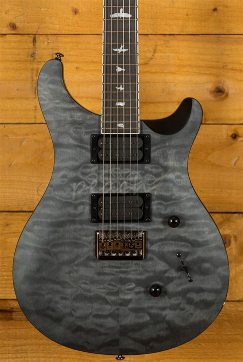 prs se mark holcomb  grey black satin peach guitars
