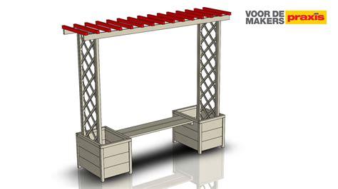 montagebalk len maak een tuinbank met een pergola voordemakers nl