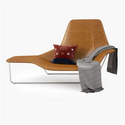zanotta lama lounge chair 3d model max obj fbx mtl