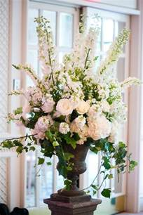 altar flowers for wedding boston wedding at the four seasons beautiful delphiniums and floral arrangements