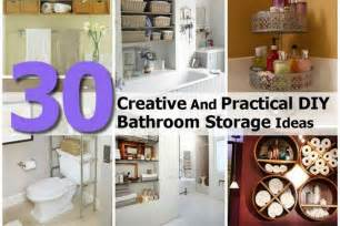 storage ideas bathroom 30 creative and practical diy bathroom storage ideas