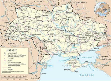ukraine kapital karte