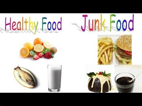 healthy food  junk food  preschool children