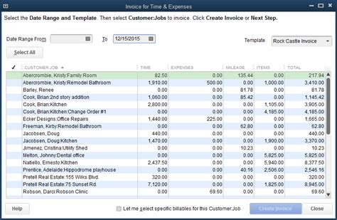 invoice  time  expenses experts  quickbooks