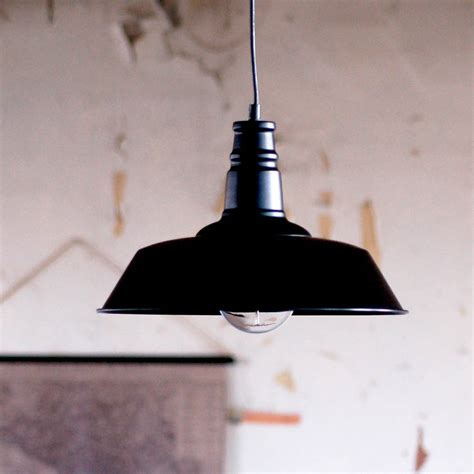 black warehouse industrial ceiling pendant light by made