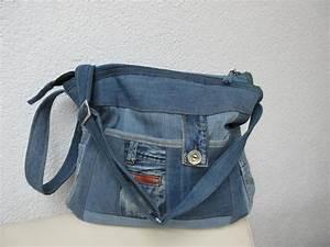 Retro Rucksack Selber Nähen : ger umige jeanstasche l upcycling von gasani auf taschen inspirationen jeans ~ Orissabook.com Haus und Dekorationen