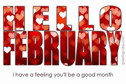 Hello February Greetings Gifs Month Greeting Wishes