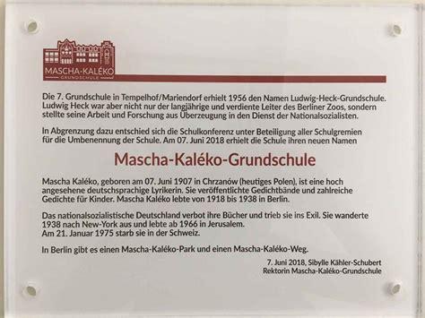 Mascha Kaleko Exil Gedichte