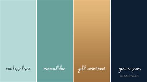 Bathroom Color Combos by Color Palette Dreamup Studios Blue Green Gold Navy