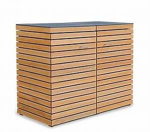 Müllbox Selber Bauen : 2 x 120 240 liter m lltonnenbox holz cubus fsc ~ Lizthompson.info Haus und Dekorationen