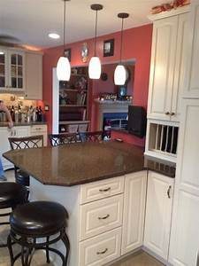 kraftmaid canvas painted cabinets with quartz countertop With kitchen cabinets lowes with i believe canvas wall art