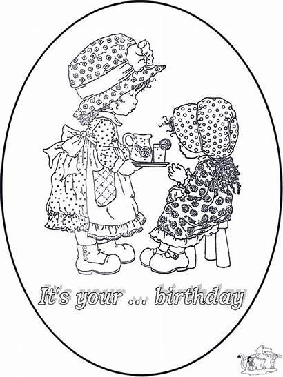Jaar Geburtstagskarte Verjaardag Kleurplaten Jij Wordt Coloriage