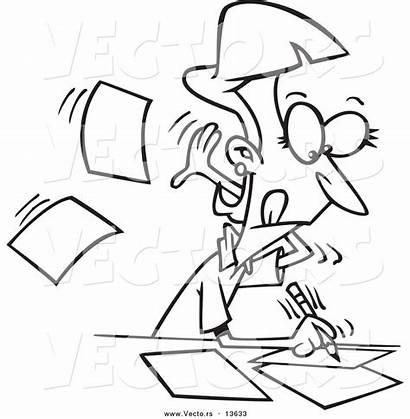 Writing Coloring Author Cartoon Outline Fast Procrastination