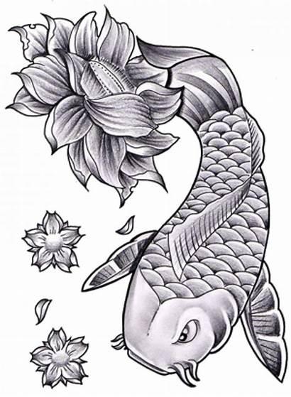 Koi Fish Tattoo Lotus Flower Tattoos Japanese