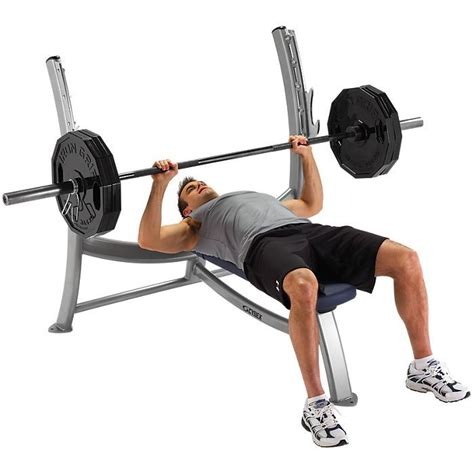 bench press with weights cybex free weights olympic bench press