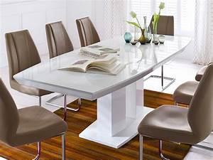 Tisch Weiß Hochglanz Ausziehbar : tavolo da pranzo estensibile 180 240 x100x76cm tavolo lucido bianco pilastri tavolo gand ~ Buech-reservation.com Haus und Dekorationen