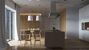 meuble separation cuisine salon en 55 idees With bar separation cuisine salon