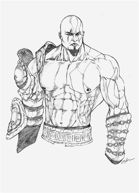 God Of War Sketch By Gabaroa On Deviantart