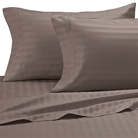 Buy Damask Stripe 500threadcount Egyptian Cotton