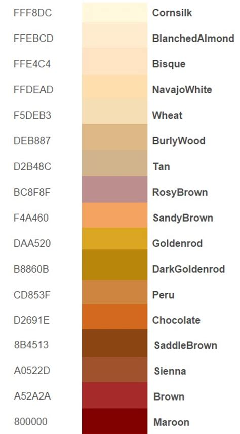 color code for brown what is html color codes how does it work