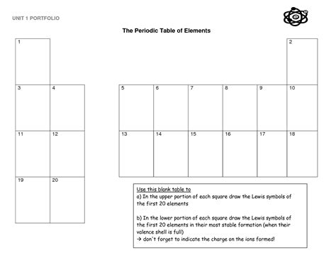 Periodic Table Worksheets For 4th Grade  The Periodic Table Chemistry Powerpoint Lesson Student