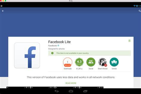 تحميل برنامج فيس بوك lite للاندرويد