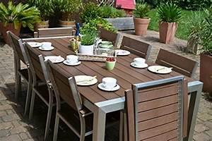 Polywood Gartenmöbel Set : gartenm bel miami tisch 200 100 6 stapelst hle und 2 hochlehner 8 personen holzdekor dunkel ~ Frokenaadalensverden.com Haus und Dekorationen