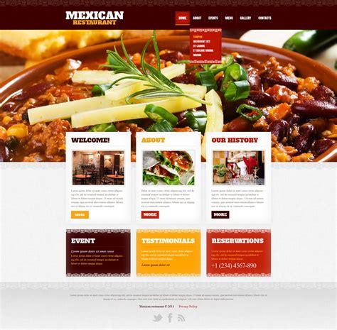cuisine site restaurant website template 42181