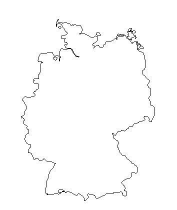 Germany | measurement systems only. Blank Outline Map of Germany — Schools at Look4