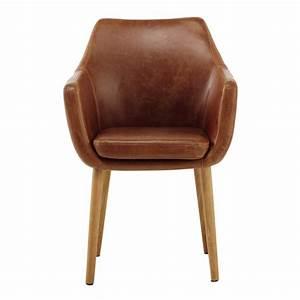 Fauteuil Cuir Marron Vintage : fauteuil imitation cuir marron vintage davis maisons du monde ~ Teatrodelosmanantiales.com Idées de Décoration