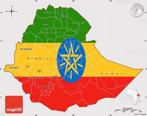 flag simple map  ethiopia