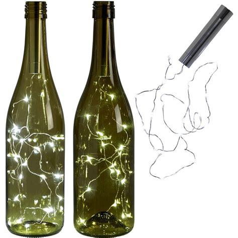 wine bottle led lights 15led copper string light wine bottle cork light for