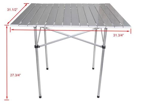 roll up aluminium table portable cing table aluminum folding roll up outdoor