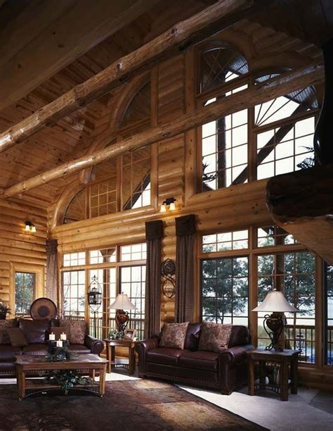 modern log cabin homes modern cabin great room log cabins homes