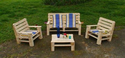plan chaise de jardin en bois comment fabriquer salon de jardin en palettes en bois