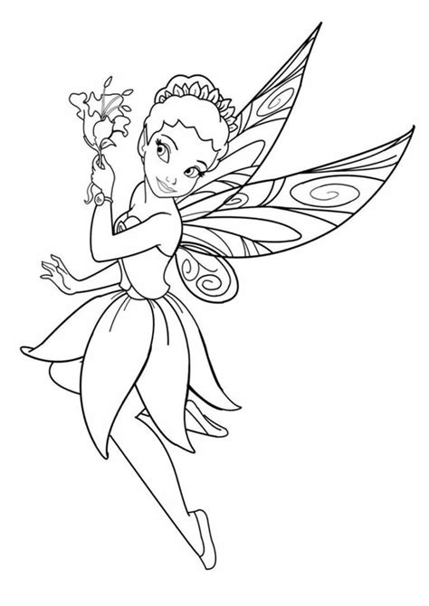 Free & Easy To Print Fairy Coloring Pages Tulamama