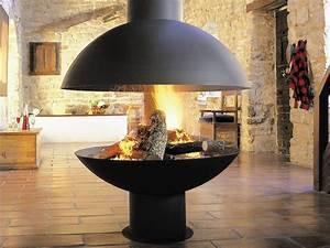 Cheminée Centrale Prix : cheminee centrale suspendue focus ~ Premium-room.com Idées de Décoration