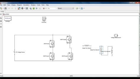 Single Phase Full Bridge Inverter Matlab Simulation Youtube