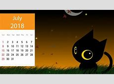 July 2018 Calendar Wallpapers For Desktop, iPhone, Android