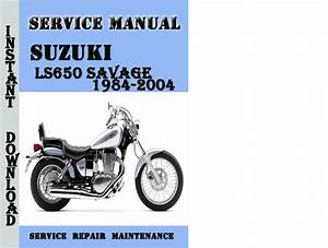 Suzuki Ls650 Savage 1984-2004 Service Repair Manual Pdf