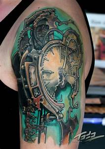 Frietas steampunk clock by Todo: TattooNOW