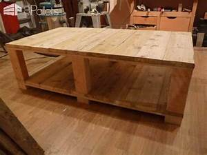 Table En Bois De Palette : table basse bois de grosse palette coffee table made from large upcycled pallet wood 1001 ~ Melissatoandfro.com Idées de Décoration
